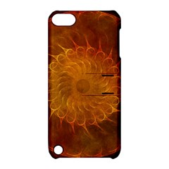 Orange Warm Hues Fractal Chaos Apple Ipod Touch 5 Hardshell Case With Stand by Celenk