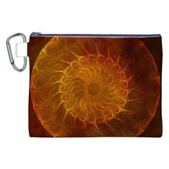 Orange Warm Hues Fractal Chaos Canvas Cosmetic Bag (xxl) by Celenk