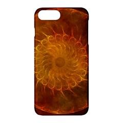 Orange Warm Hues Fractal Chaos Apple Iphone 7 Plus Hardshell Case by Celenk