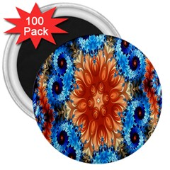 Alchemy Kaleidoscope Pattern 3  Magnets (100 Pack) by Celenk