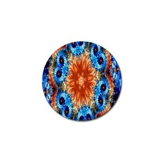 Alchemy Kaleidoscope Pattern Golf Ball Marker by Celenk