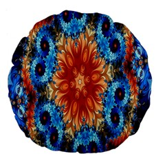 Alchemy Kaleidoscope Pattern Large 18  Premium Flano Round Cushions by Celenk