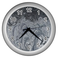 Abstract Art Decoration Design Wall Clocks (silver)  by Celenk