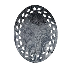Abstract Art Decoration Design Oval Filigree Ornament (two Sides) by Celenk