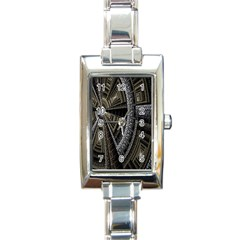 Fractal Circle Circular Geometry Rectangle Italian Charm Watch by Celenk