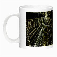 Fractal Circle Circular Geometry Night Luminous Mugs by Celenk