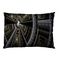 Fractal Circle Circular Geometry Pillow Case by Celenk