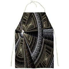 Fractal Circle Circular Geometry Full Print Aprons by Celenk