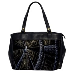 Fractal Circle Circular Geometry Office Handbags by Celenk