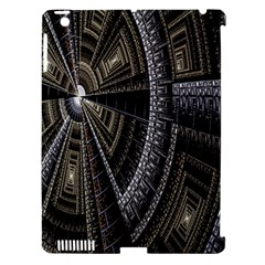 Fractal Circle Circular Geometry Apple Ipad 3/4 Hardshell Case (compatible With Smart Cover) by Celenk