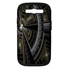 Fractal Circle Circular Geometry Samsung Galaxy S Iii Hardshell Case (pc+silicone) by Celenk