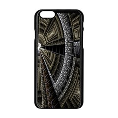 Fractal Circle Circular Geometry Apple Iphone 6/6s Black Enamel Case by Celenk