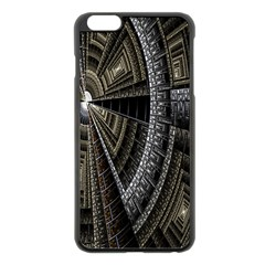Fractal Circle Circular Geometry Apple Iphone 6 Plus/6s Plus Black Enamel Case by Celenk