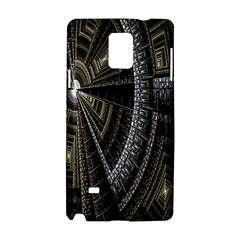 Fractal Circle Circular Geometry Samsung Galaxy Note 4 Hardshell Case by Celenk