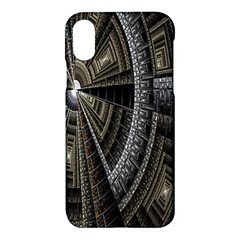 Fractal Circle Circular Geometry Apple Iphone X Hardshell Case by Celenk
