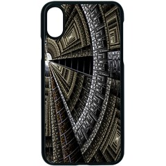 Fractal Circle Circular Geometry Apple Iphone X Seamless Case (black) by Celenk
