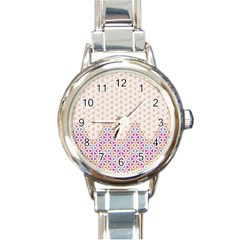 Flower Of Life Pattern 1 Round Italian Charm Watch by Cveti