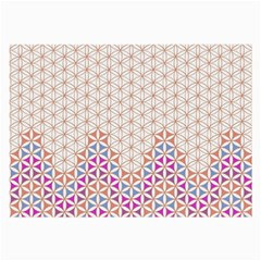 Flower Of Life Pattern 1 Large Glasses Cloth by Cveti