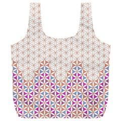 Flower Of Life Pattern 1 Full Print Recycle Bags (l)  by Cveti