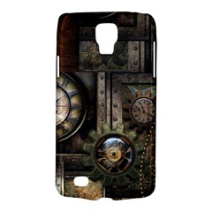 Steampunk, Wonderful Clockwork With Gears Galaxy S4 Active by FantasyWorld7