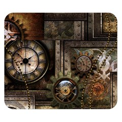 Steampunk, Wonderful Clockwork With Gears Double Sided Flano Blanket (small)  by FantasyWorld7