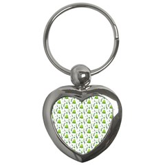 Watercolor Christmas Tree Key Chains (heart)  by patternstudio