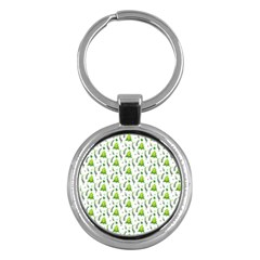Watercolor Christmas Tree Key Chains (round)  by patternstudio