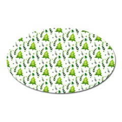 Watercolor Christmas Tree Oval Magnet by patternstudio
