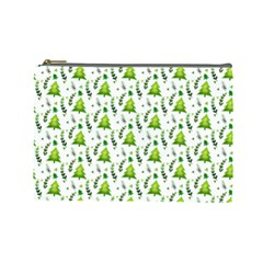 Watercolor Christmas Tree Cosmetic Bag (large)  by patternstudio