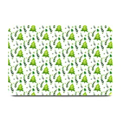Watercolor Christmas Tree Plate Mats by patternstudio