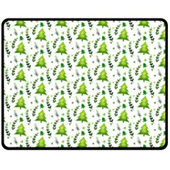 Watercolor Christmas Tree Fleece Blanket (medium)  by patternstudio