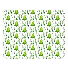 Watercolor Christmas Tree Double Sided Flano Blanket (large)  by patternstudio