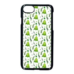 Watercolor Christmas Tree Apple Iphone 7 Seamless Case (black) by patternstudio