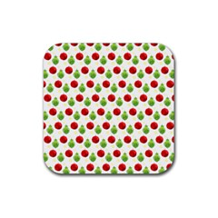 Watercolor Ornaments Rubber Square Coaster (4 Pack)  by patternstudio
