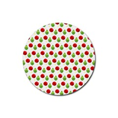 Watercolor Ornaments Rubber Round Coaster (4 Pack)  by patternstudio