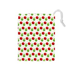 Watercolor Ornaments Drawstring Pouches (medium)  by patternstudio