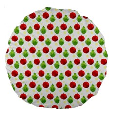 Watercolor Ornaments Large 18  Premium Round Cushions by patternstudio