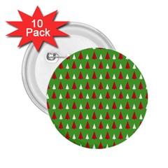 Christmas Tree 2 25  Buttons (10 Pack)  by patternstudio