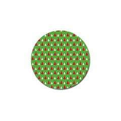 Christmas Tree Golf Ball Marker by patternstudio