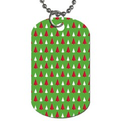 Christmas Tree Dog Tag (two Sides) by patternstudio