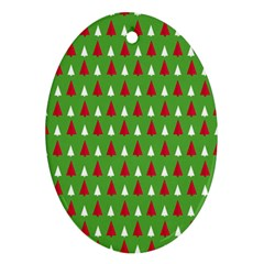 Christmas Tree Oval Ornament (two Sides) by patternstudio