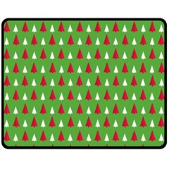 Christmas Tree Fleece Blanket (medium)  by patternstudio