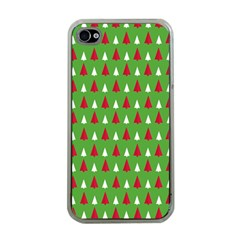 Christmas Tree Apple Iphone 4 Case (clear) by patternstudio