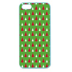 Christmas Tree Apple Seamless Iphone 5 Case (color) by patternstudio
