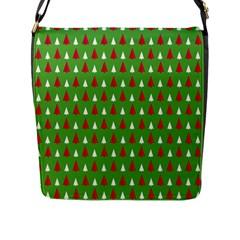 Christmas Tree Flap Messenger Bag (l)  by patternstudio