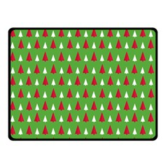 Christmas Tree Double Sided Fleece Blanket (small)  by patternstudio