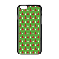 Christmas Tree Apple Iphone 6/6s Black Enamel Case by patternstudio