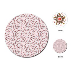 Candy Cane Playing Cards (round)  by patternstudio