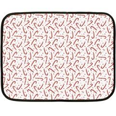 Candy Cane Fleece Blanket (mini) by patternstudio