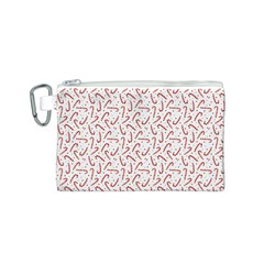 Candy Cane Canvas Cosmetic Bag (s) by patternstudio
